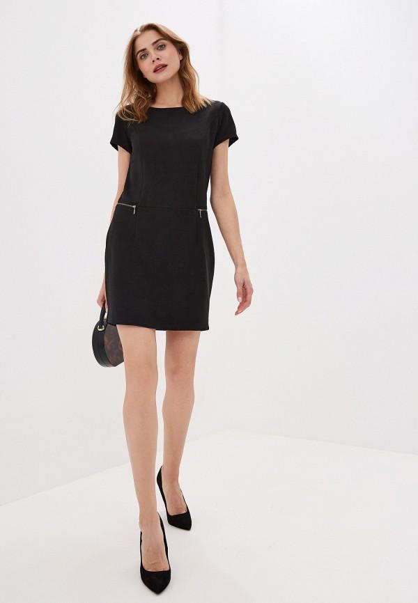 Фото 2 - женское платье Sela черного цвета