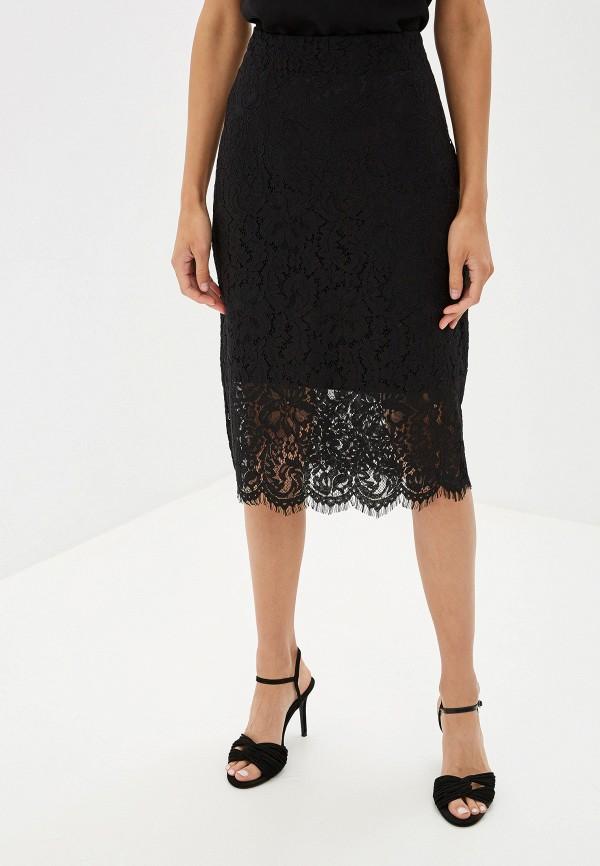 женская прямые юбка sela, черная