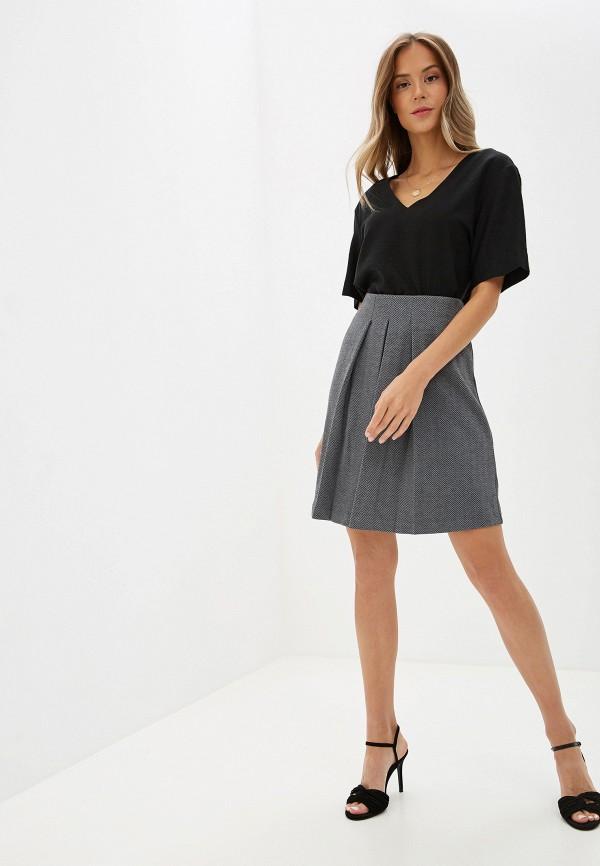 Фото 2 - женскую юбку Sela серого цвета