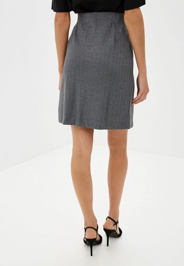 Фото 3 - женскую юбку Sela серого цвета