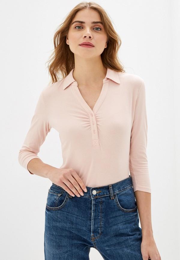 женский лонгслив sela, розовый