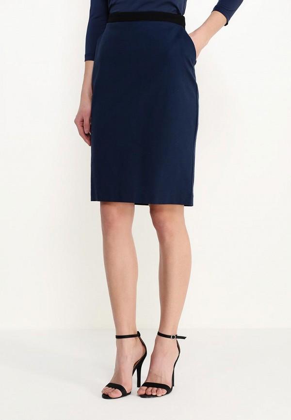 женская прямые юбка sela, синяя