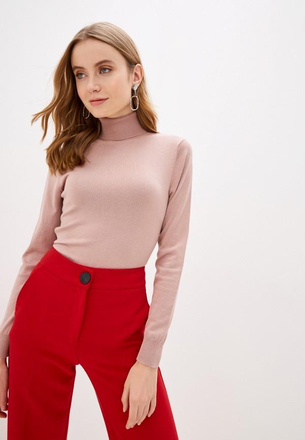 женская водолазка sela, розовая