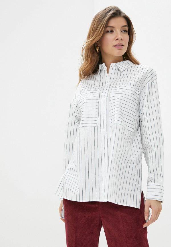 женская рубашка с длинным рукавом sela, белая