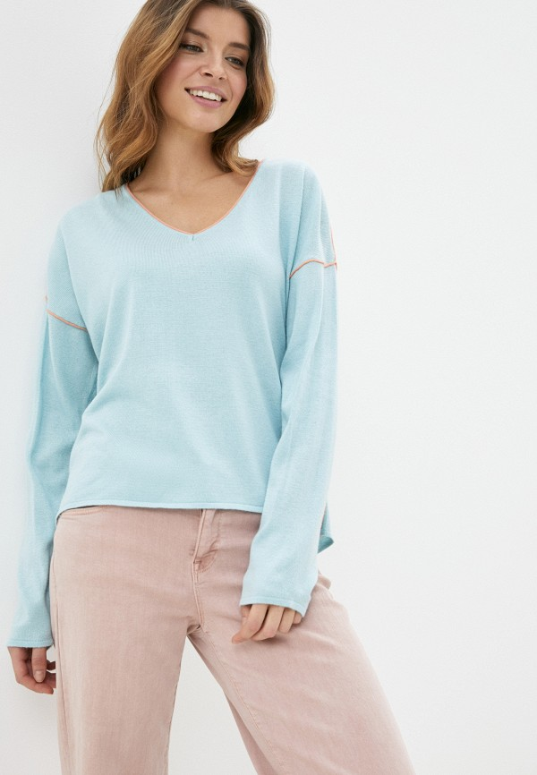 женский пуловер sela, голубой