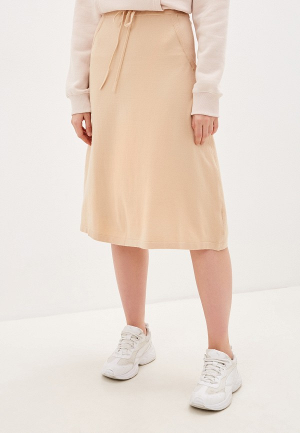 женская юбка sela, бежевая