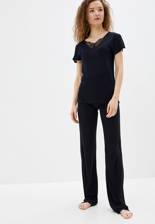 женская пижама sela, черная
