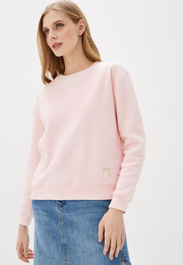 женский свитшот sela, розовый