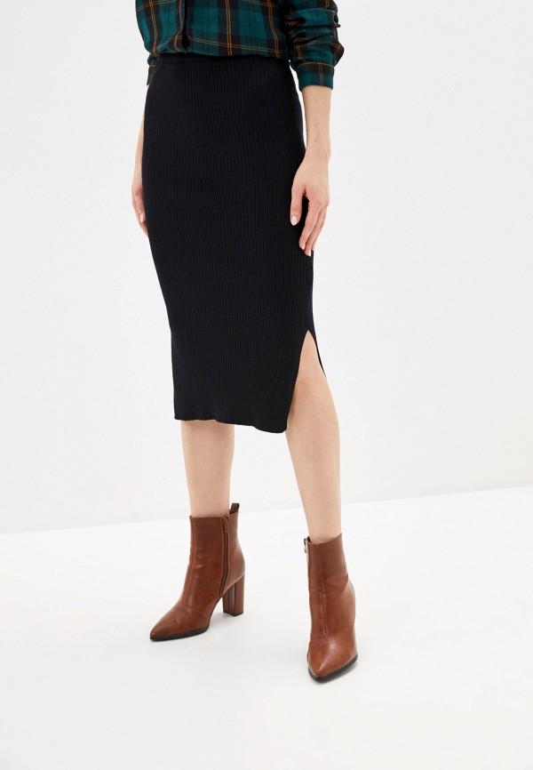 женская зауженные юбка sela, черная