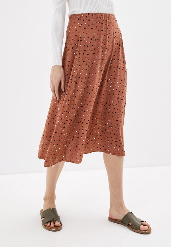 женская юбка sela, коричневая
