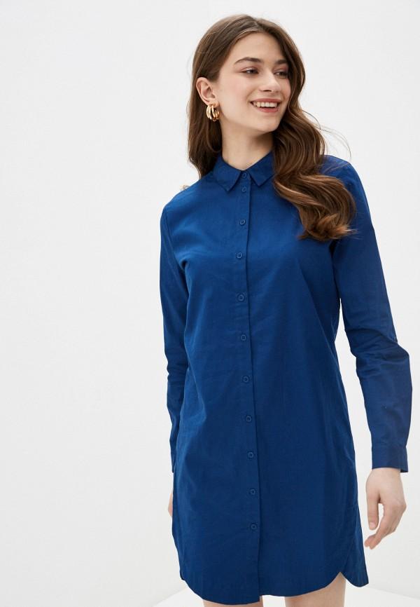 женское платье sela, синее