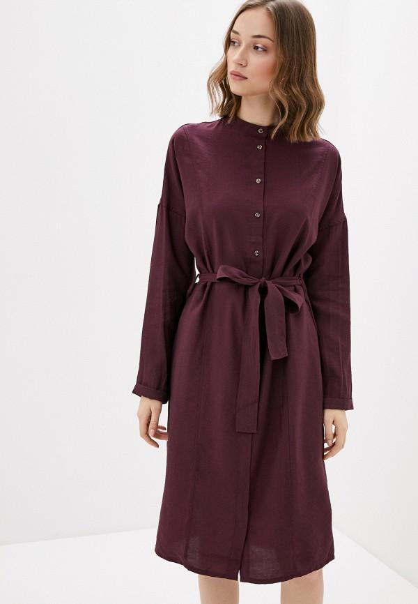 женское повседневные платье sela, бордовое