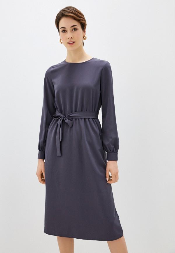 женское повседневные платье sela, серое