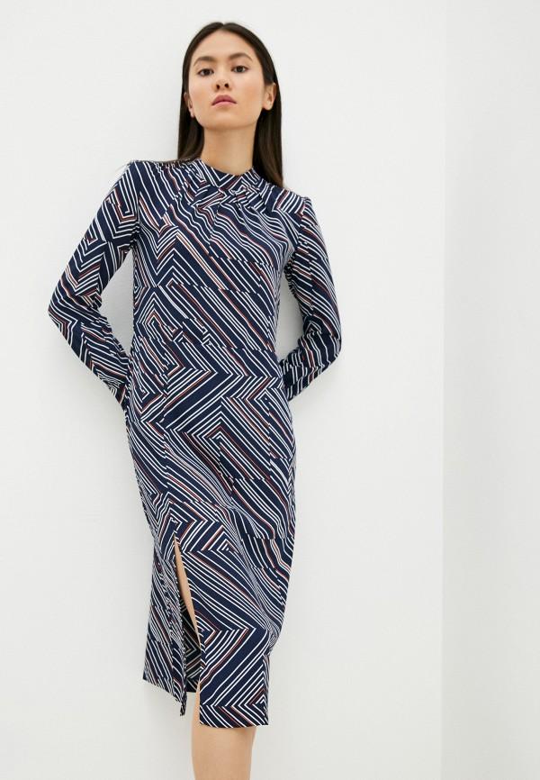 женское повседневные платье sela, синее