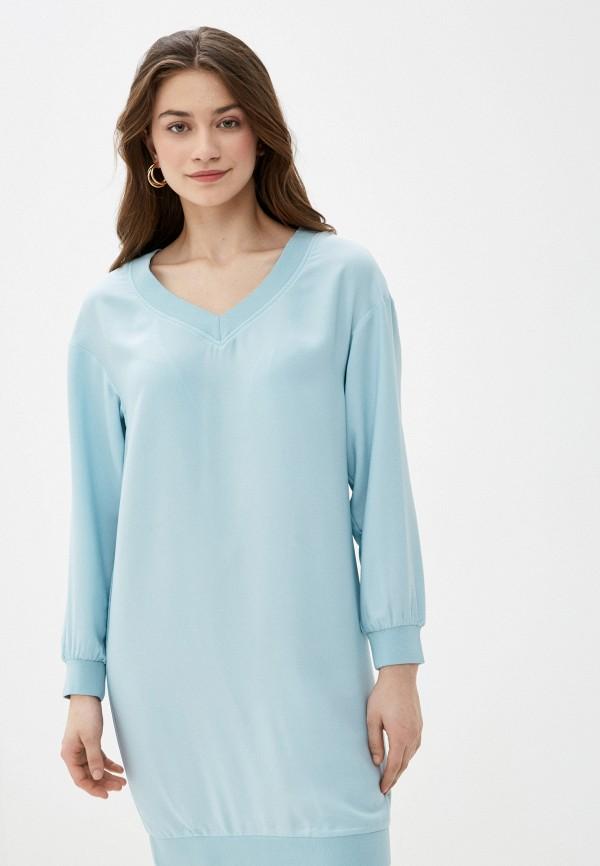 женское повседневные платье sela, бирюзовое