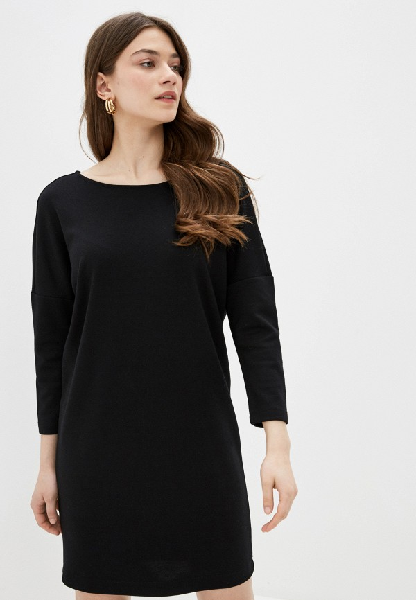 женское повседневные платье sela, черное