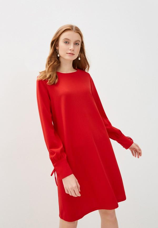 женское повседневные платье sela, красное