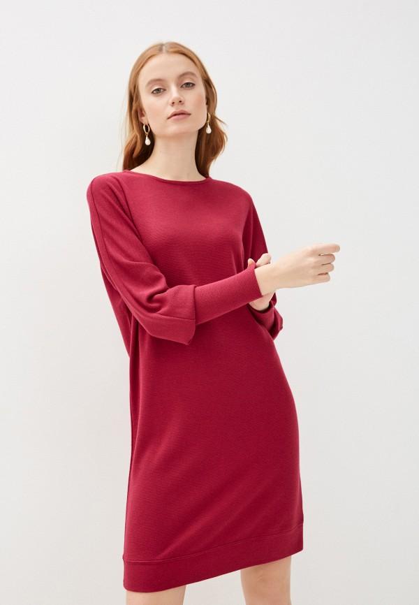 женское платье sela, бордовое