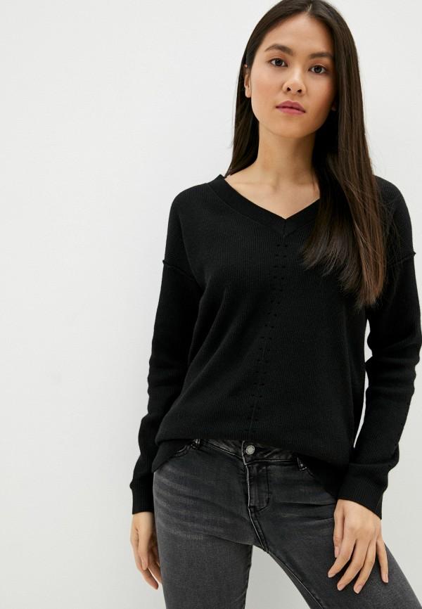 женский пуловер sela, черный