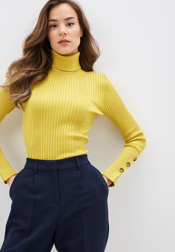 женская водолазка sela, желтая