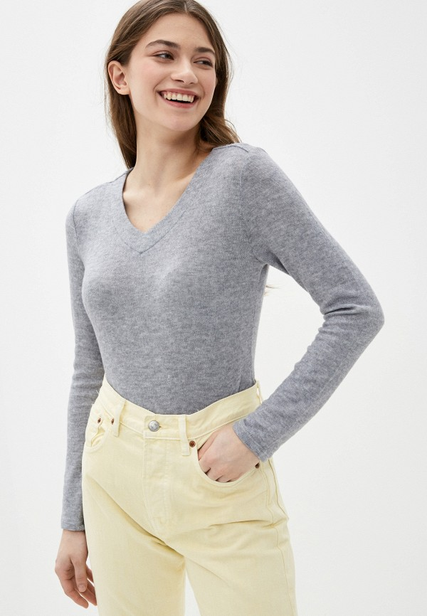 женский пуловер sela, серый
