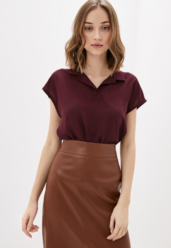 женская блузка sela, бордовая