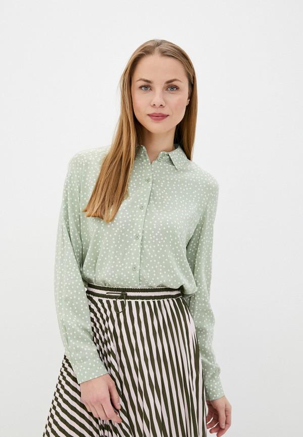 женская блузка sela, зеленая