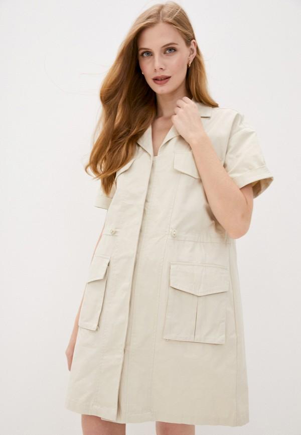женское платье sela, бежевое