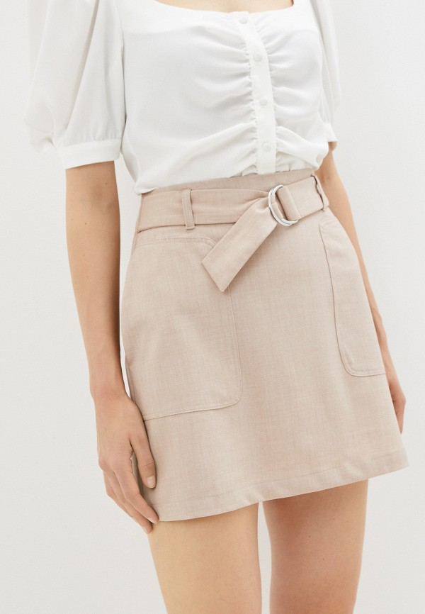 женская прямые юбка sela, бежевая