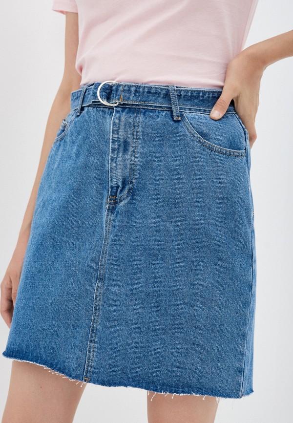 женская джинсовые юбка sela, голубая