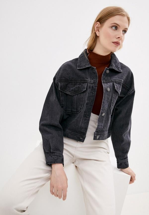 женская джинсовые куртка sela, серая