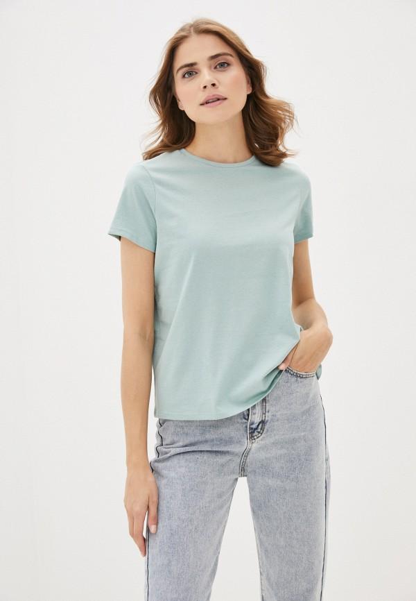 женская футболка sela, бирюзовая