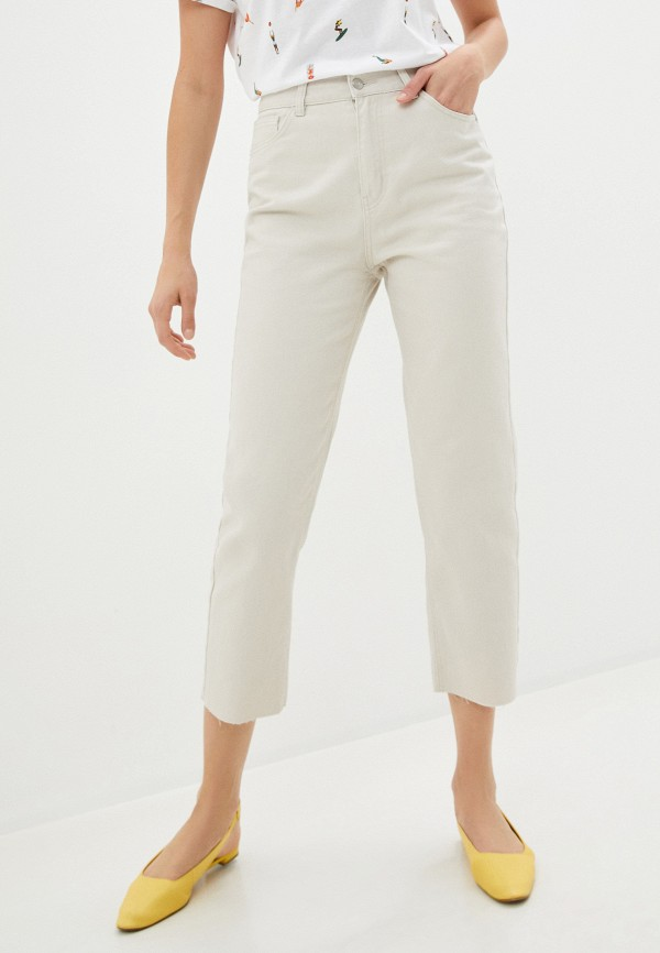 женские джинсы sela, бежевые