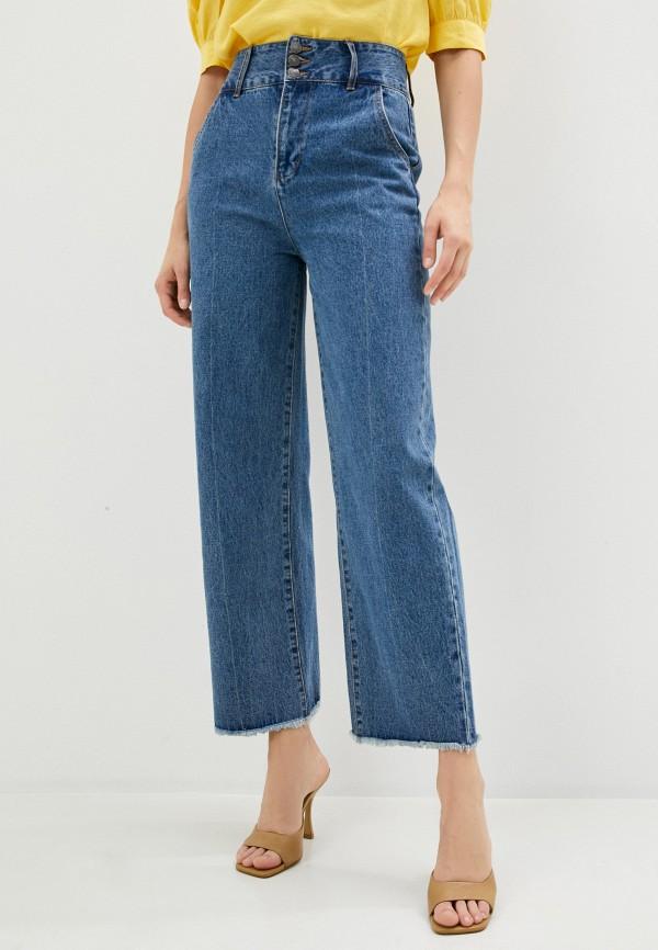 женские джинсы клеш sela, синие