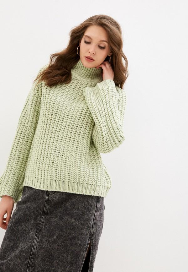 женский свитер sela, зеленый