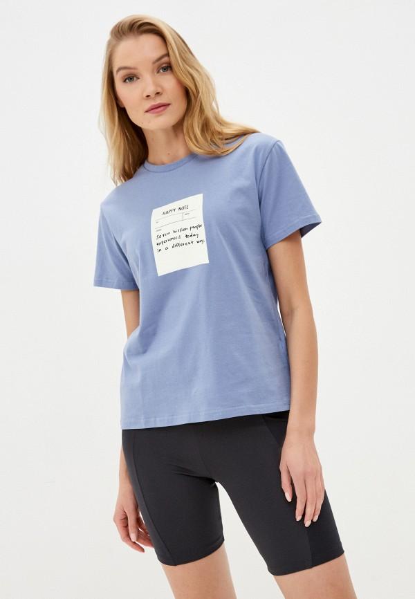 женская футболка sela, фиолетовая