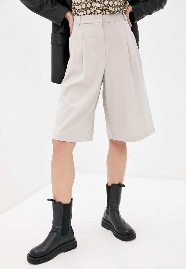 женские повседневные шорты sela, бежевые