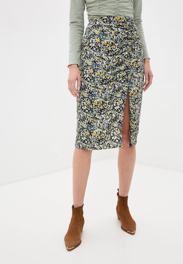 женская прямые юбка sela, разноцветная