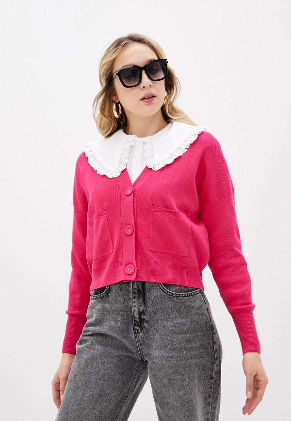 женский кардиган sela, розовый