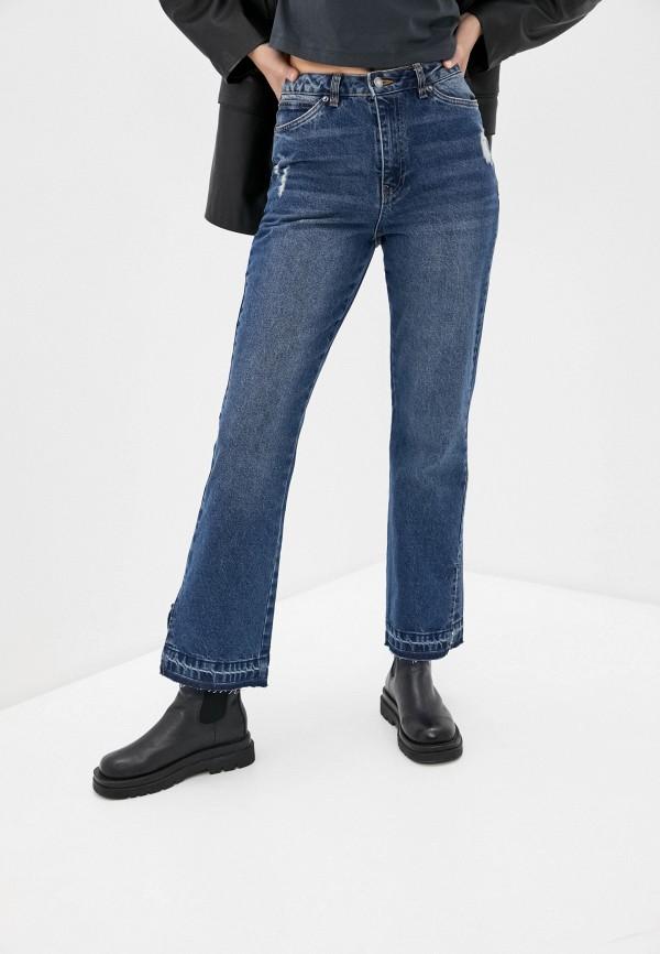 женские прямые джинсы sela, синие