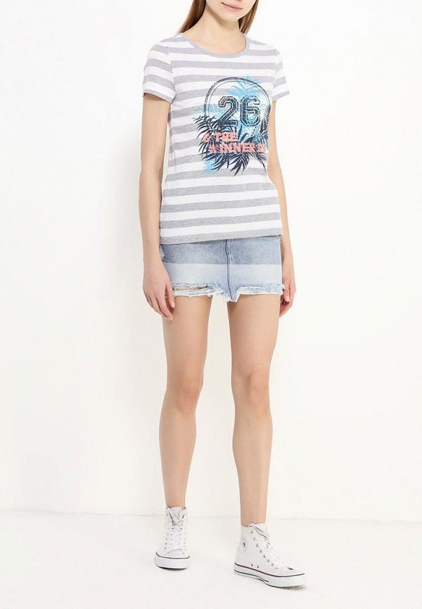 Фото 2 - женскую футболку Sela серого цвета