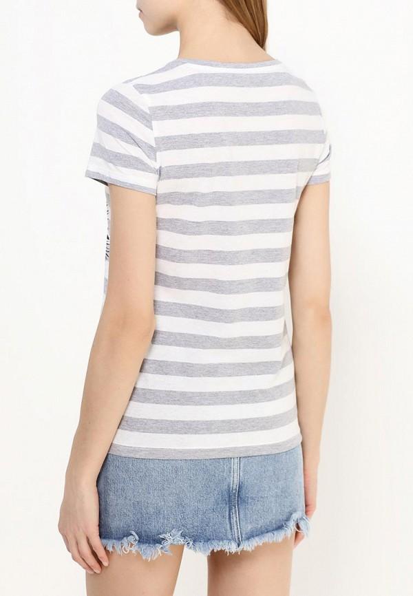 Фото 4 - женскую футболку Sela серого цвета
