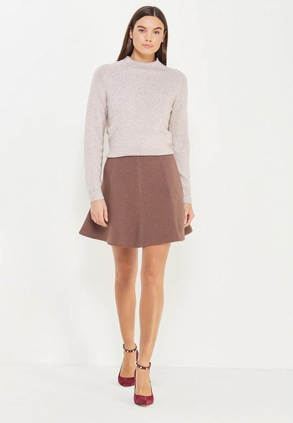 Фото 2 - женскую юбку Sela коричневого цвета