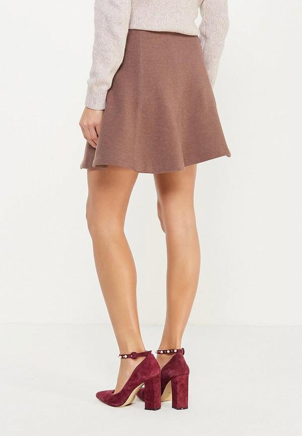 Фото 3 - женскую юбку Sela коричневого цвета