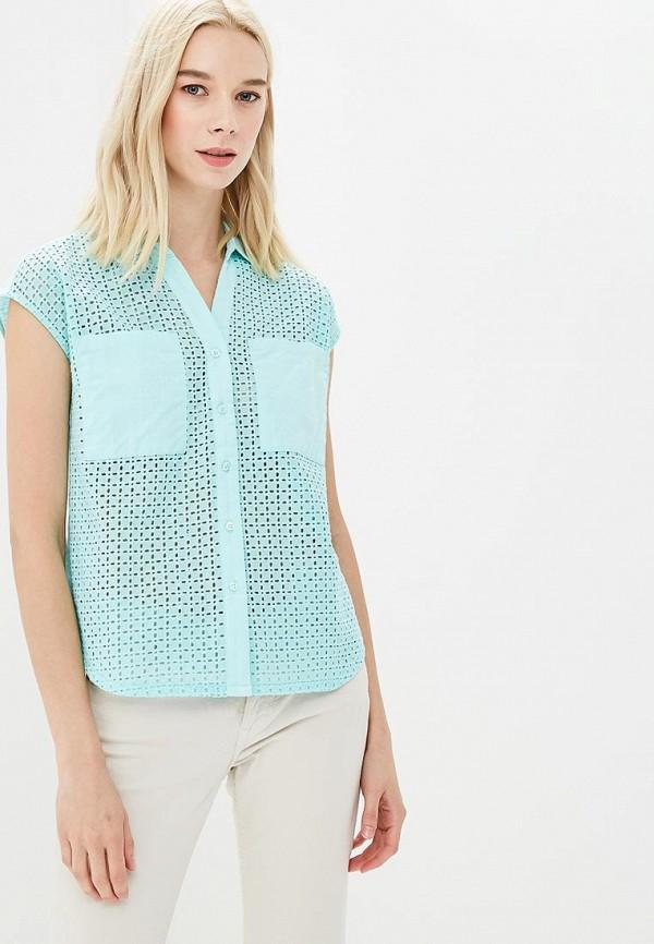 женская блузка sela, бирюзовая