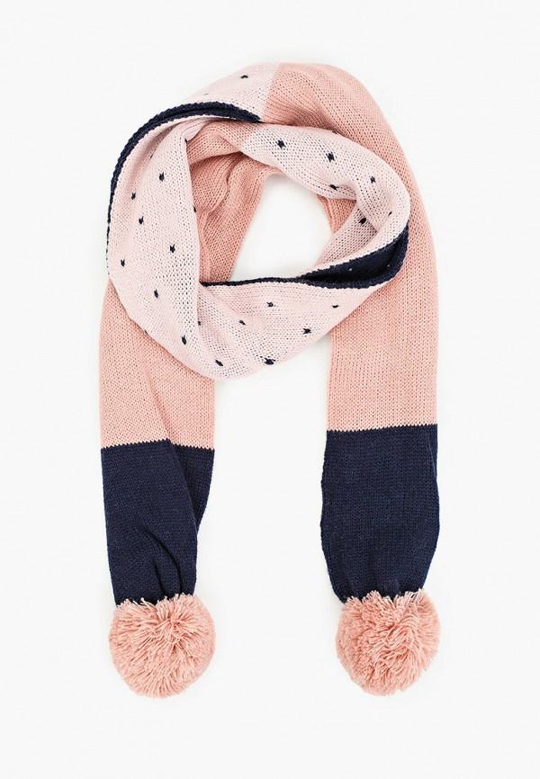 шарф sela для девочки, розовый