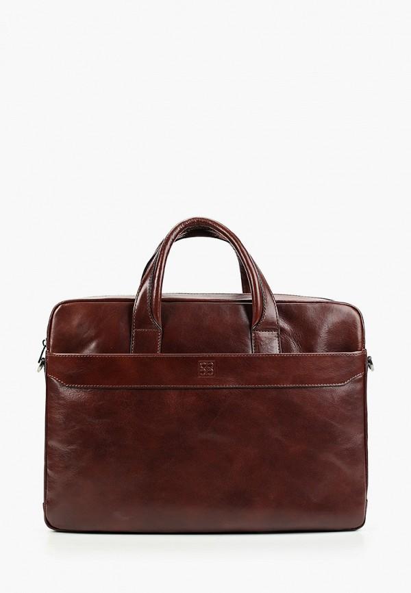 мужская сумка sergio belotti, коричневая