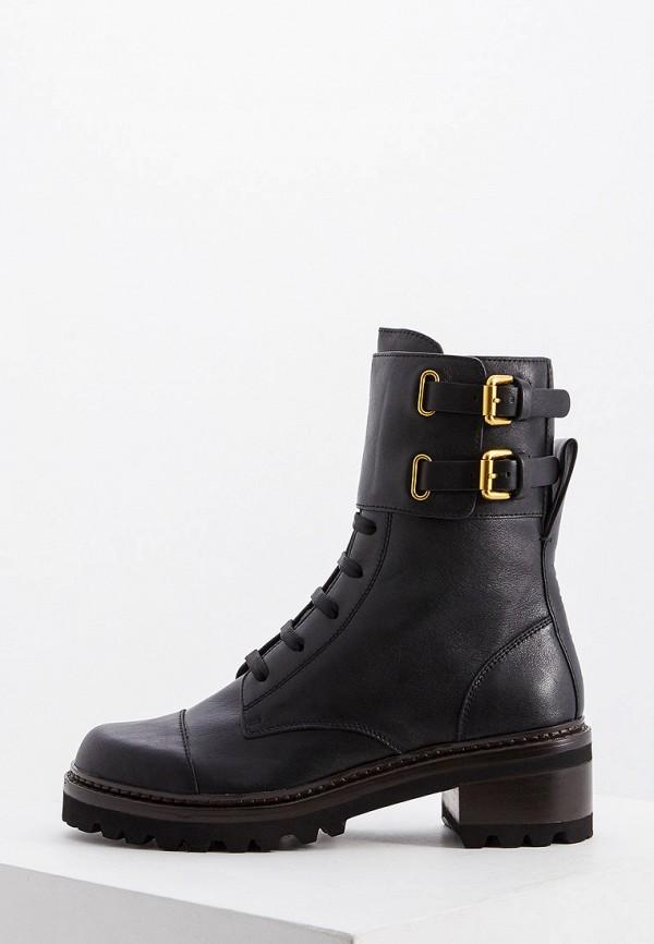 женские ботинки see by chloe, черные