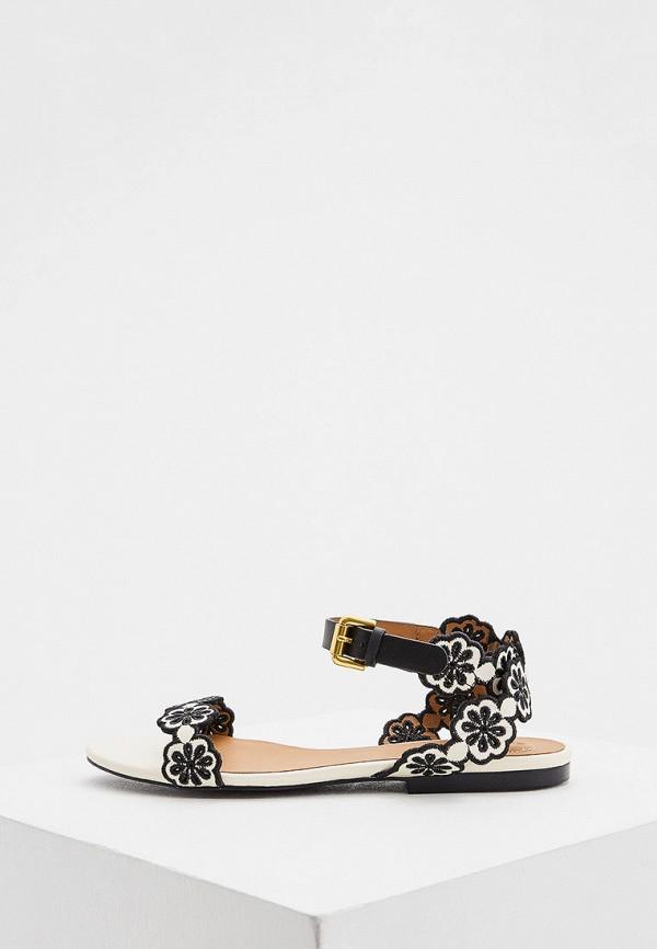 женские сандалии see by chloe, черные