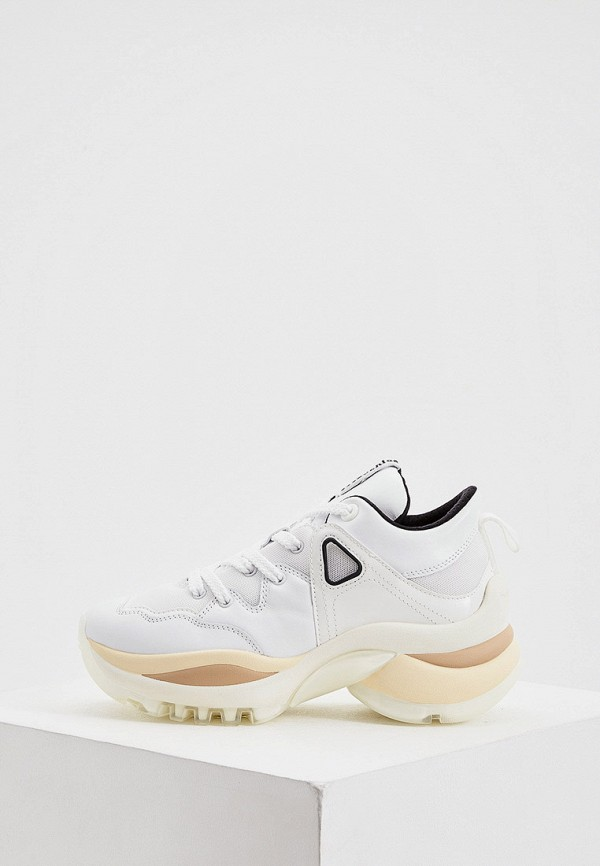 женские низкие кроссовки see by chloe, белые